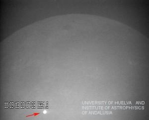 Imagen del mayor impacto detectado hasta la fecha de una roca contra la superficie lunar