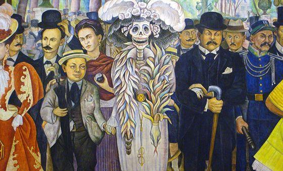 Sueño de una tarde dominical. Diego Rivera