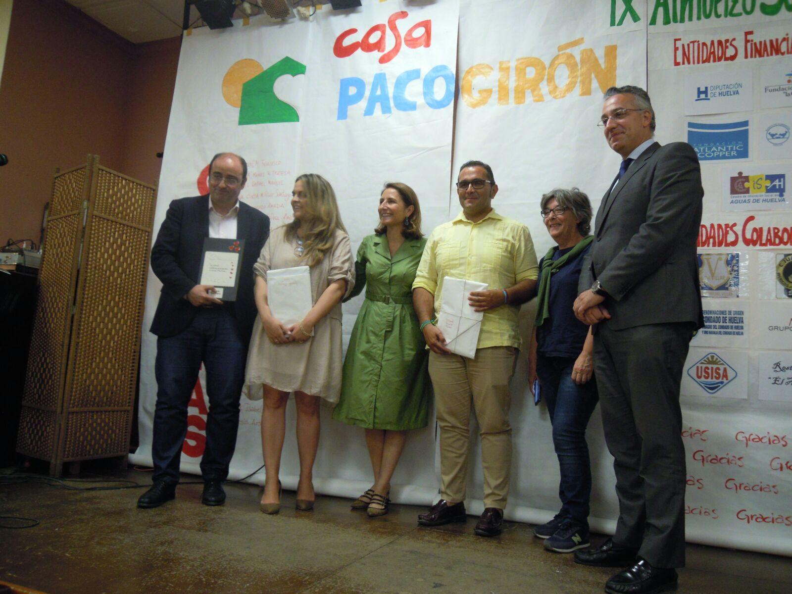 LA CASA PACO GIRÓN RECONOCE A ENTIDADES COLABORADORAS DE HUELVA EN SU IX ALMUERZO SOLIDARIO